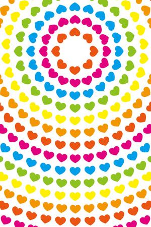 Wallpaper material, symbol, pattern, pattern, patterns, heart-shaped, love, Rainbow, colorful, circular