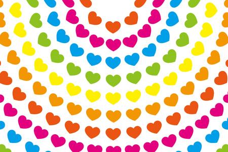 Wallpaper material, symbol, pattern, pattern, patterns, heart-shaped, love, Rainbow, Rainbow, colorful, circular