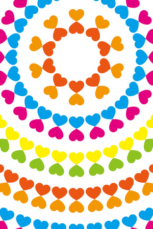Wallpaper material, symbol, pattern, pattern, patterns, heart-shaped, love, Rainbow, Rainbow, colorful, circular