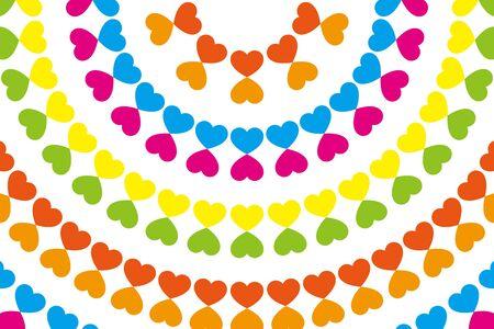 amber: Wallpaper material, symbol, pattern, pattern, patterns, heart-shaped, love, Rainbow, Rainbow, colorful, circular