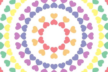 壁紙素材、シンボル、パターン、ハート、愛、虹、カラフルな円形