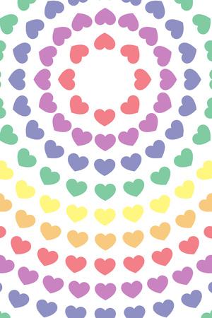 壁紙素材、シンボル、パターン、パターン、パターン、ハート、愛、虹、虹、カラフルな円形