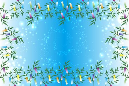 벽지 재료, 칠석 장식, 축제, 전통, 갈 대, 대나무 잎, 여름, 스타 더스트, 유백색 방법,