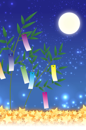 Japanese-style background material, full moon, full moon, autumn, moon, Japans traditional event, Susukino, moon, moon, Moon Princess, bamboo takes stories