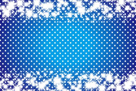 Stars and polka-dot pattern Archivio Fotografico