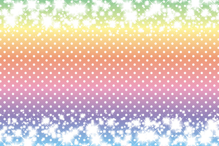 Stars and polka-dot pattern Stock Photo