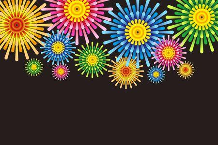 bulletin: Fireworks image, Fireworks, StarMine, summer image, Festival, Japan, tradition, copy space, Fireworks