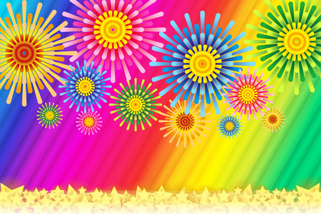 bulletin: Fireworks image, Fireworks, StarMine, summer image, Japan, striped, stripe, plaid people, border pattern, night