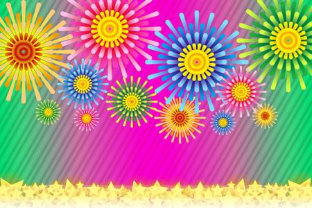most popular: Fireworks image vector illustration.