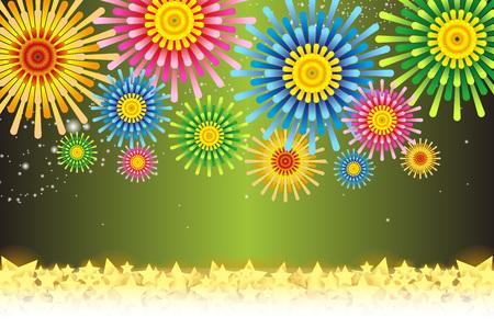 Fireworks image vector illustration.