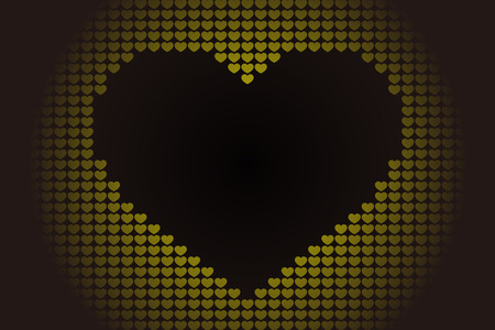 Background material wallpaper, heart pattern, symbol, pattern, patterns, affection, love, copy space, cute, love, hearts  イラスト・ベクター素材