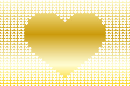 heartshaped: Background material wallpaper, heart pattern, symbol, pattern, patterns, affection, love, copy space, cute, love, hearts Illustration