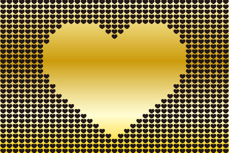 Background material wallpaper, heart pattern, symbol, pattern, patterns, affection, love, copy space, cute, love, hearts Illusztráció