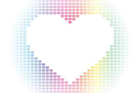 Background material wallpaper, heart pattern, symbol, pattern, patterns, affection, love, copy space, cute, love, hearts Çizim