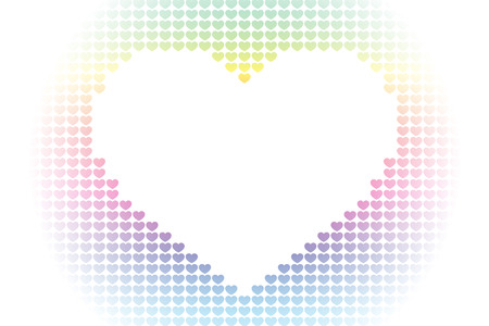 Background material wallpaper, heart pattern, symbol, pattern, patterns, affection, love, copy space, cute, love, hearts Illustration
