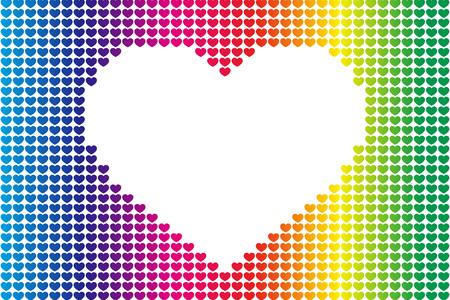 背景素材壁紙、心のパターン、シンボル、パターン、パターン、愛情、愛、コピー スペース、かわいい、愛、心  イラスト・ベクター素材