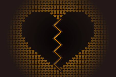 Broken heart icon. Illusztráció
