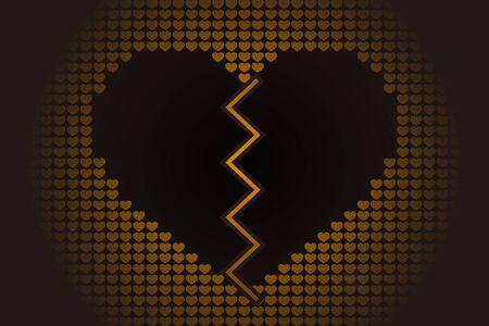 Gebroken hart pictogram.