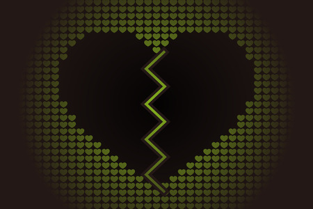 Broken heart icon. 일러스트
