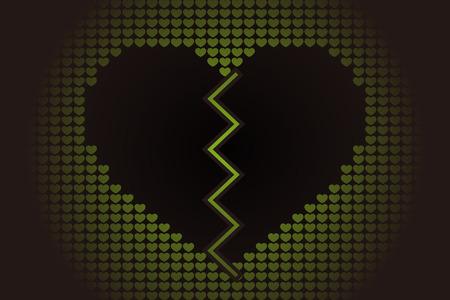 Broken heart icon. Vettoriali
