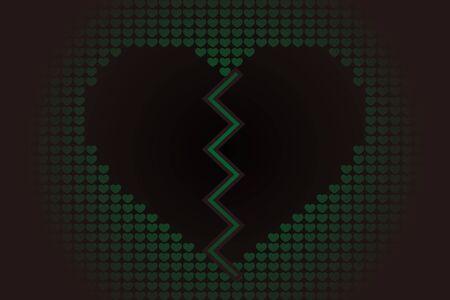 Broken heart icon. Çizim