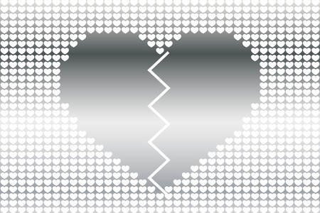 Broken heart icon. Illustration