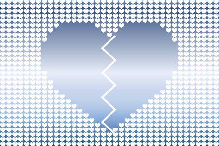 Broken heart icon. Illustration