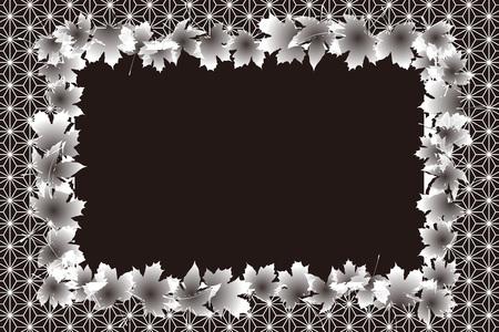 momiji: A Background material, photo frame, photo frame, Japan, autumn, Japanese-style images, textures, Ryu, maple, Ginkgo, Maple Illustration