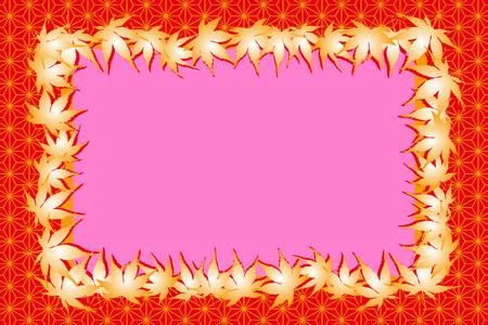 momiji: Background material, photo frame, photo frame, Japan, autumn, Japanese-style images, textures, Ryu, maple, Ginkgo, Maple Illustration