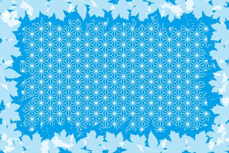 momiji: Background material, autumn, Japanese-style images, traditional patterns, maple, Ginkgo, Kaede, Momiji, Ginkgo, maple, title
