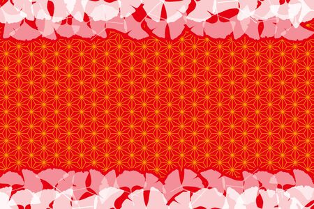 Autumn Japanese-style background pattern for template vector illustration