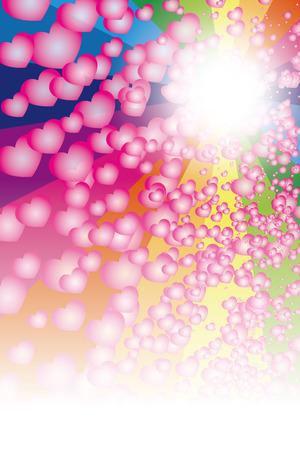 Colorful wallpaper material.