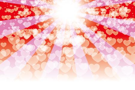 Achtergrondmateriaal, straling van liefde en liefde. Stock Illustratie