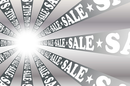 Wallpaper material showing the word sale on a ray like presentation. Illustration