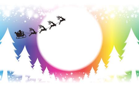 背景素材壁紙、クリスマス カード、木、装飾、装飾、装飾ライト、雪、夜景、キラキラ