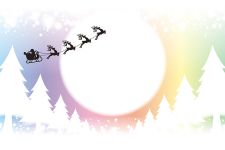 night out: Background material wallpaper, Merry Christmas, cards, trees, decorations, decorating, decorations, lights, snow, night scene, glitter Illustration