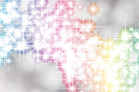 Background material wallpaper, glitter, light, illustrations, effects, glitter, glitter, glittering, Stardust, milky way, galaxies, stars, Illustration
