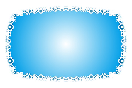 Background material, photo frame, photo frame, snow, winter, ice crystals, messages, illustrations, image, images
