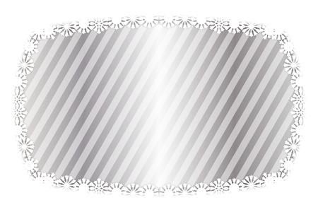 Background material, photo frame, photo frame, snow, winter, ice crystals, message space, illustrations, image, images, striped, stripes, kusuhara, border pattern, diagonal,