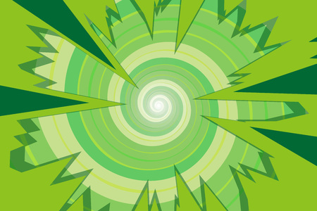 Background material, intensive line, cartoon, animation, expression, speech bubbles, lines, spirals, spin, spiral, spiral Illustration