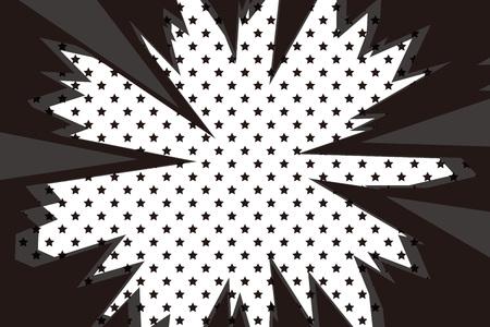 Background material, intensive line, cartoon, animation, expression, speech bubbles, lines, spirals, spin, spiral, spiral Çizim