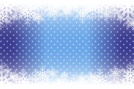 Blue snowflakes abstract pattern design.  イラスト・ベクター素材