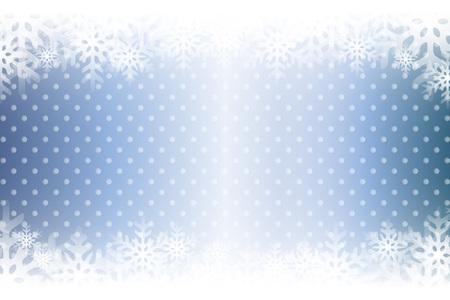 Blue snowflakes abstract pattern design. Ilustração