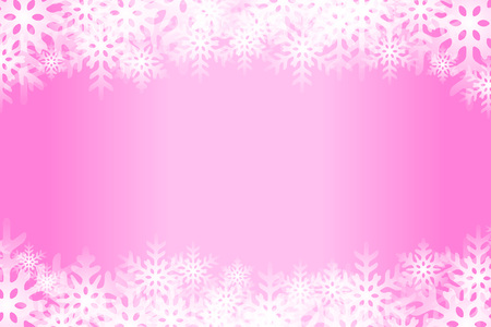 Pink snowflakes abstract pattern design.
