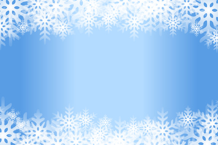 Blue snowflakes abstract pattern design. Illustration
