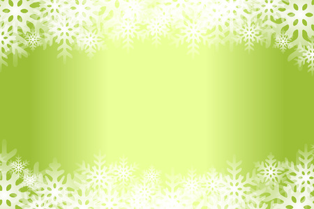 Green snowflakes abstract pattern design. Illustration