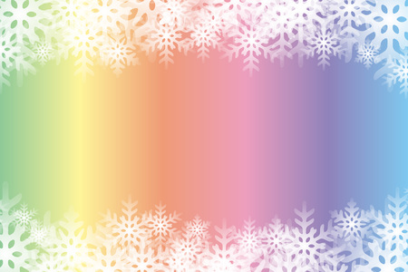 Colorful snowflakes abstract pattern design.