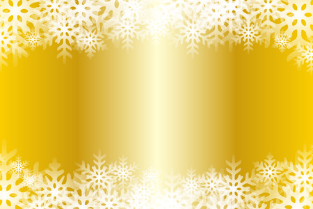 Yellow snowflakes abstract pattern design. Illustration