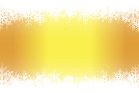 Yellow snowflakes abstract pattern design. Illusztráció