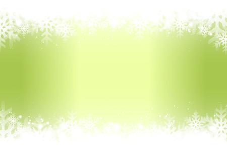 Green snowflakes abstract pattern design. Illusztráció